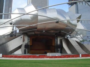 Jay Pritzker Pavilion - 10 famous works of Frank Gehry