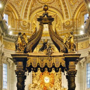 Baldachin of San Pedro Bernini famous works