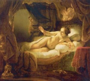 Danaë 10 famous works of Rembrandt