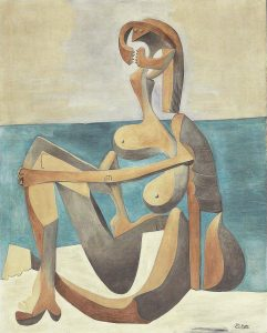 Seated Bather - 10 most famous works of Picasso