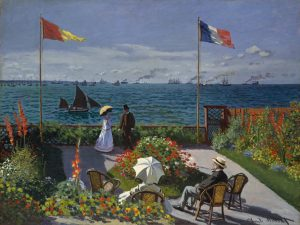 10 Famous Works of Monet - The Terrace at Saint- Andresse