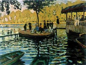10 Famous Works of Monet - Bain a la Grenouillere