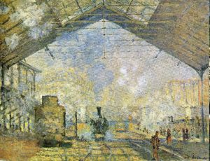 10 Famous Works of Monet - La Gare Saint - Lazare