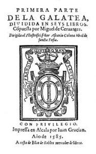 10 famous works of Cervantes - La Galatea