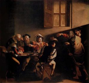 Calling of St. Matthew - Caravaggio artworks