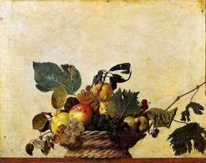 Basket of fruit of Caravaggio