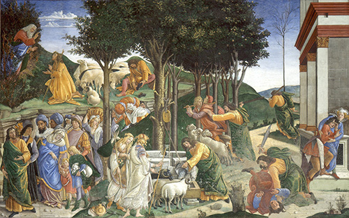 The Trials of Moses works of Botticelli