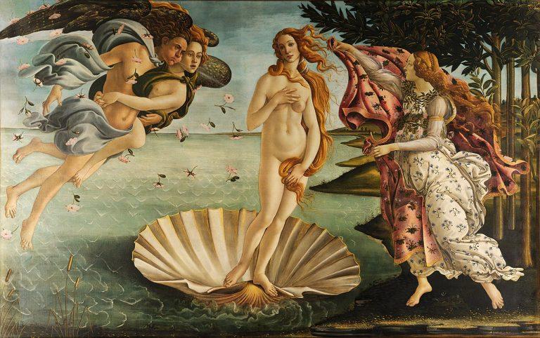 The Birth of Venus Botticelli mos important works