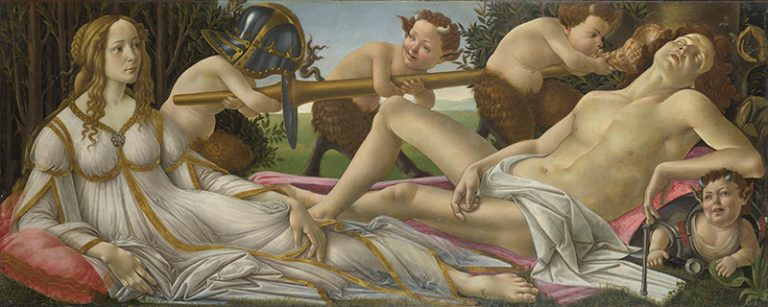 Venus and Mars-1483 Most famous Paints of Botticelli