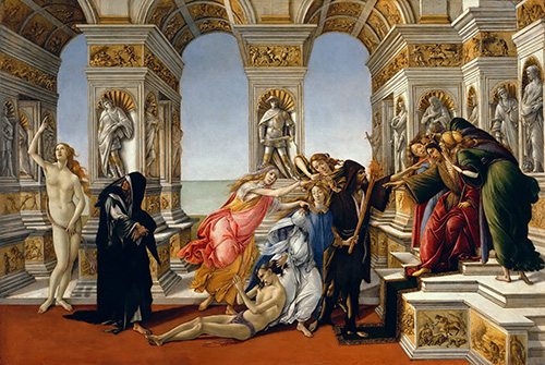 The Calumny of Apelles-1495 Best 10 works Boticelli