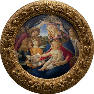 Madonna of the Magnificat-1481 Botticelli in Florence - Italy