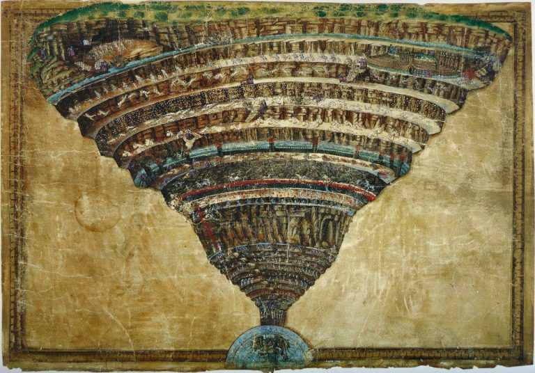 The Abyss of Hell-1481 Botticelli Vatican works